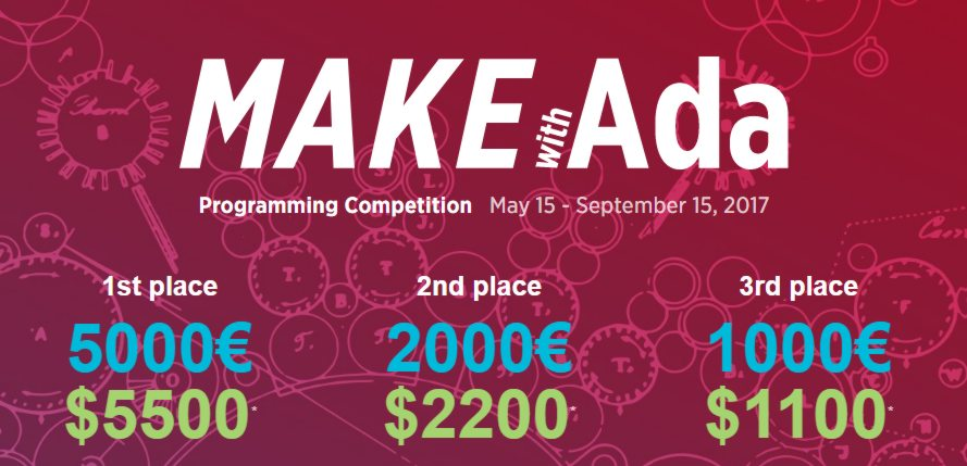 Make With Ada Embedded Software Contest